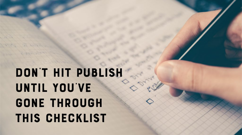 SEO Content Publishing Checklist
