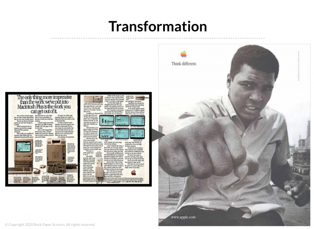 messaging transformation for marketing